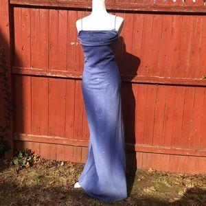 NWT Cache shimmer full length ombré dress